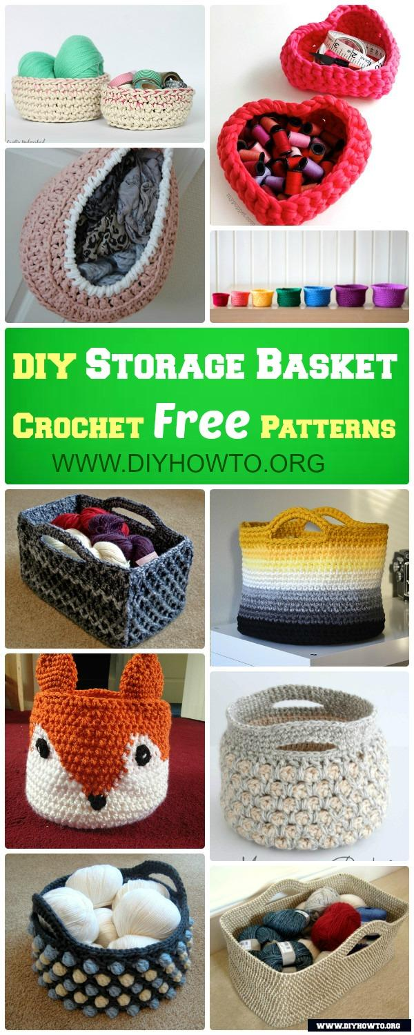 More Crochet Storage Basket Free Patterns