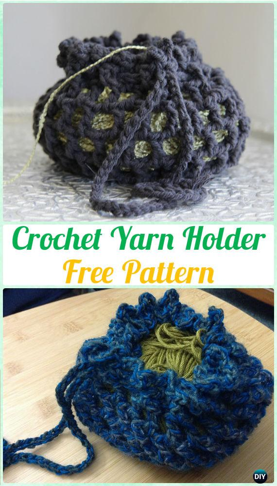 Crochet Yarn Holder Free Pattern - DIY Gift Ideas for Crocheters