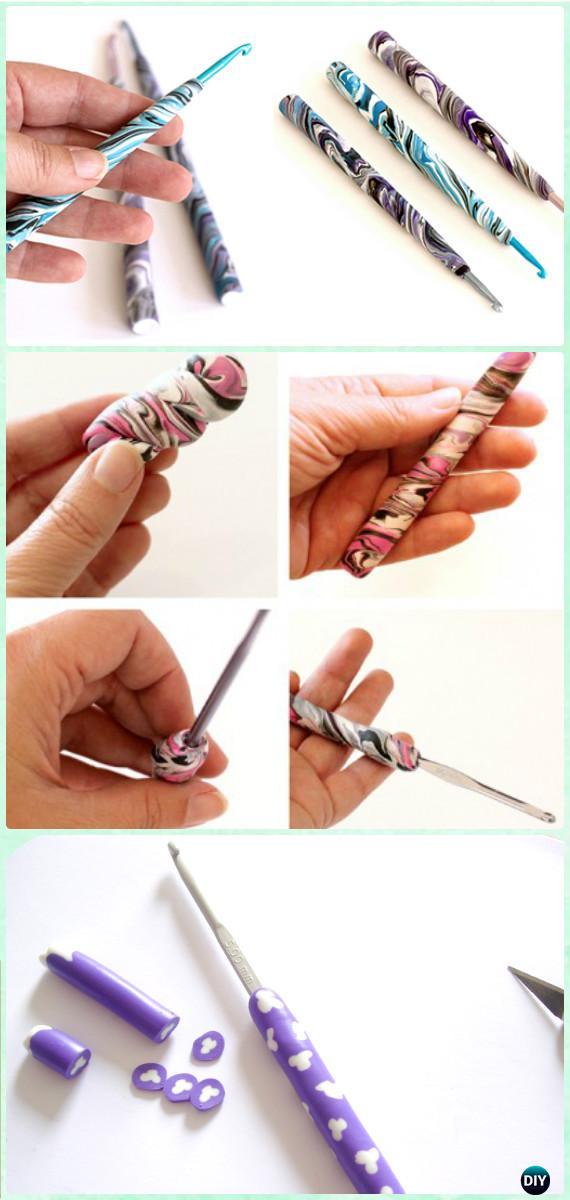 DIY Polymer Clay Crochet Hook Handle Instruction - DIY Gift Ideas for Crocheters