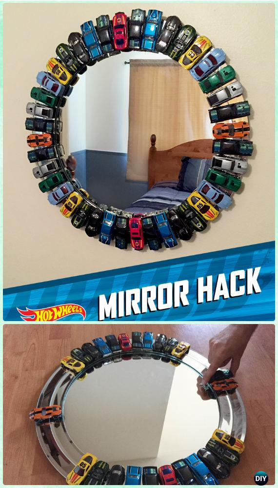DIY Toy Car Mirror Frame Instruction -DIY Decorative Mirror Frame Ideas and Projects