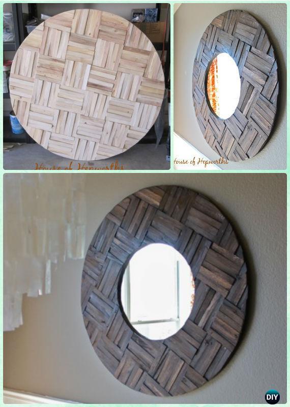 DIY Wood Shim Mirror Instruction -DIY Decorative Mirror Frame Ideas and Projects