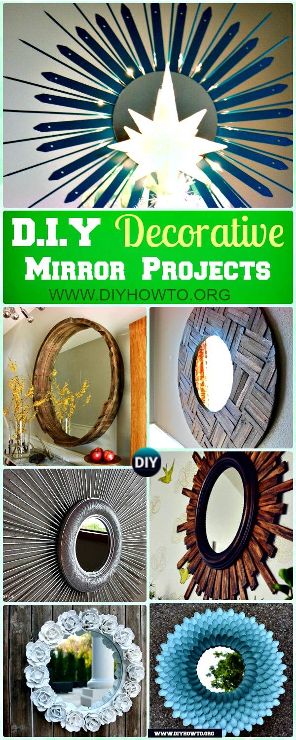 A List of amazing DIY decorative mirrors to suit any taste or style (not to mention budget)
