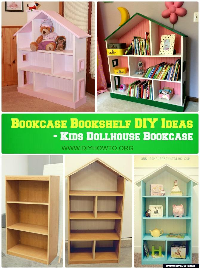 Diy Kids Dollhouse Bookcase Instructions Free Plan