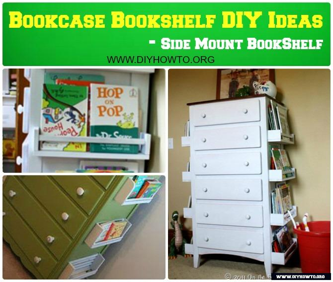 DIY Dresser Side Bookshelf Instructions