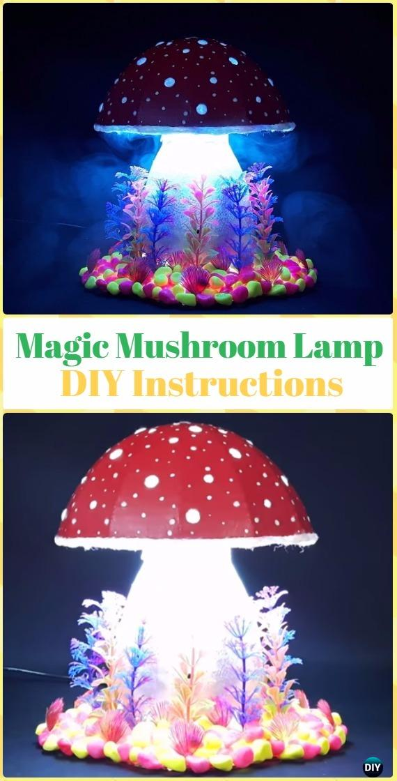 DIY Magic Mushroom Lamp Tutorial - DIY Fairy Light Projects & Instructions
