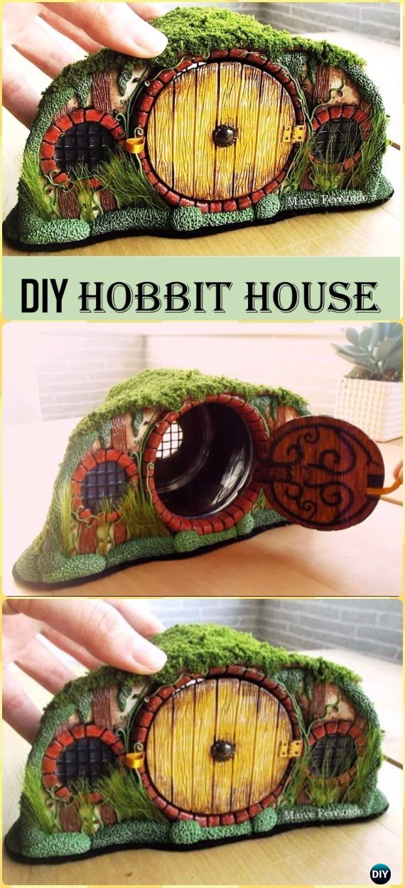 DIY Mason Jar Hobbit House Lantern Tutorial Vdieo - DIY Fairy Light Projects & Instructions
