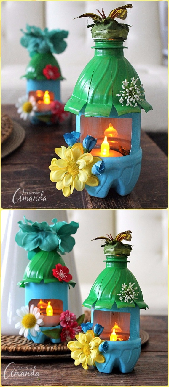 DIY Plastic Bottle Fairy House Night Lights Tutorial Vdieo - DIY Fairy Light Projects & Instructions