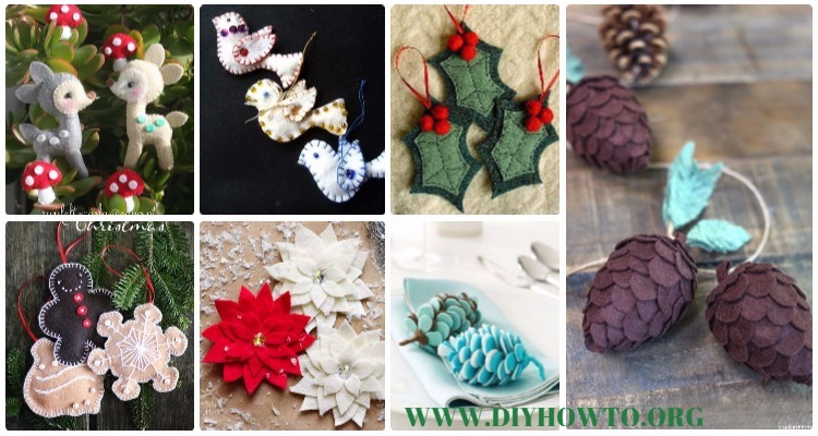 - DIY Felt Christmas Ornament Craft Projects Instructions