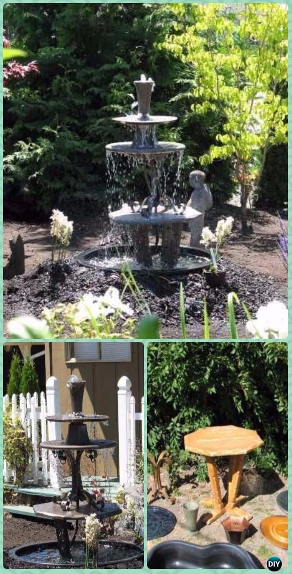 diy three tiered garden fountain instruction diy fountain