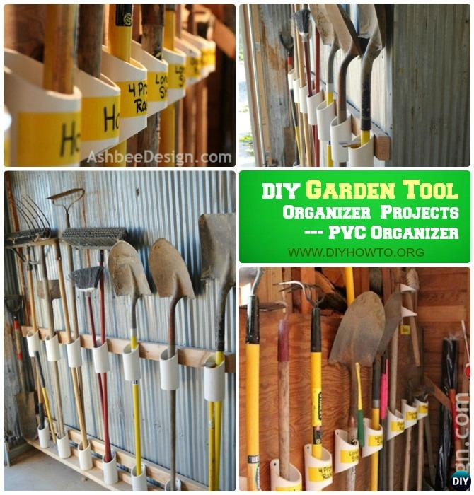 DIY PVC Garden Tool Organizer Instructions Garden Tool Organizer DIY Ideas  Projects