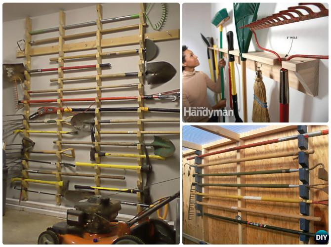 Charmant DIY Garden Tool Rack Hanger Organizer Instruction DIY Garden Tool Organizer  Ideas