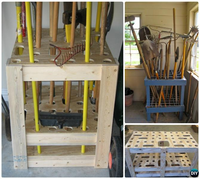 Garden Tool Organizer Storage Diy Ideas Projects Instructions