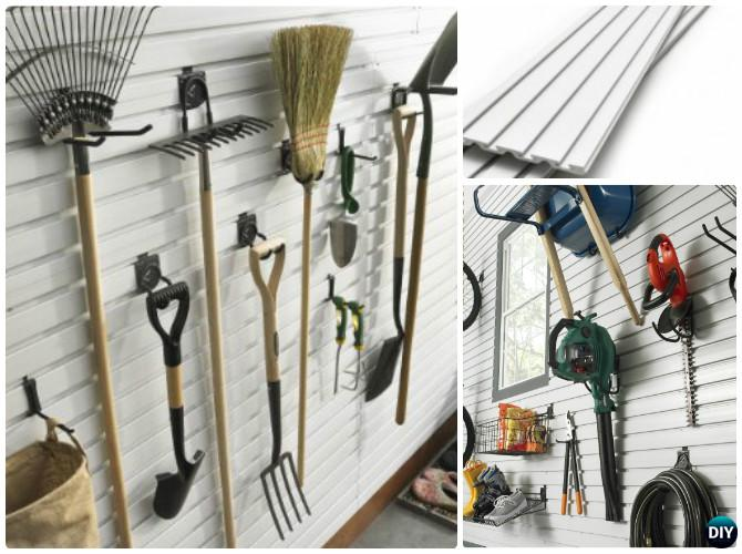 DIY Wall Panel Garden Tool Rack Organizer Instruction-DIY Garden Tool Organizer Ideas
