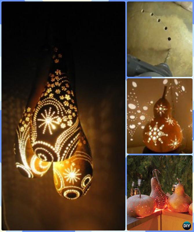 DIY Gourd Lantern Instruction-DIY Gourd Craft Projects