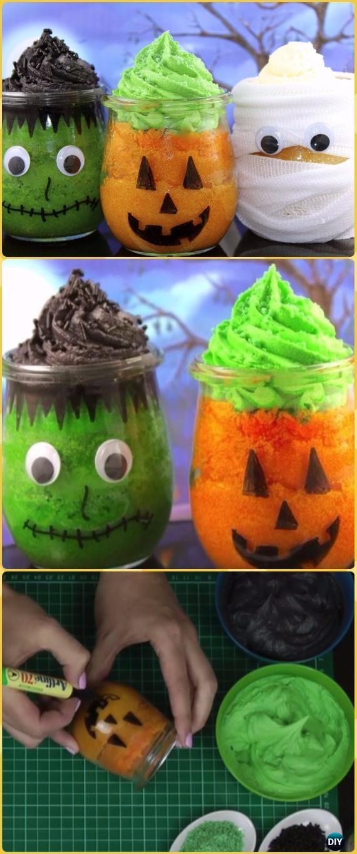 DIY Halloween Cupcake Jars Tutorial- DIY Halloween Mason Jar Craft Ideas Projects