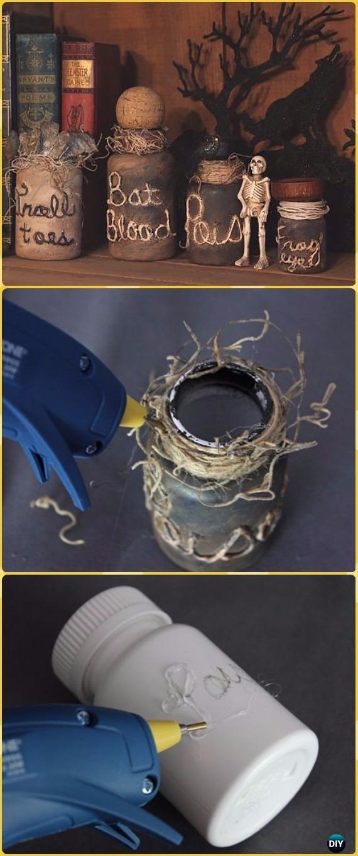 DIY Spooky Witch's Jar Tutorial - DIY Halloween Mason Jar Craft Ideas Projects