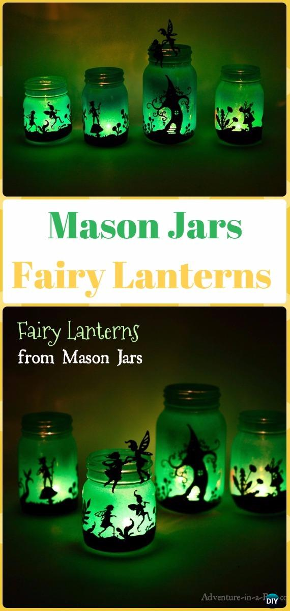 DIY Mason Jar Fairy Lantern Tutorial- DIY Halloween Mason Jar Craft Ideas Projects