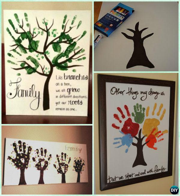 diy handprint family tree instruction diy handprint craft gift