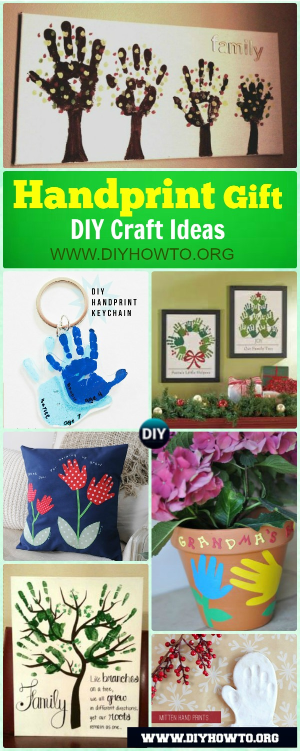 DIY Handprint Craft Gift Ideas: Handprint gifts for kids and family to make...