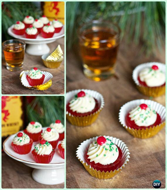 Ginger Ale Cocktail Fireball Jello Shot Cupcakes Recipe -DIY Holiday Jello Shot Recipes for Christmas