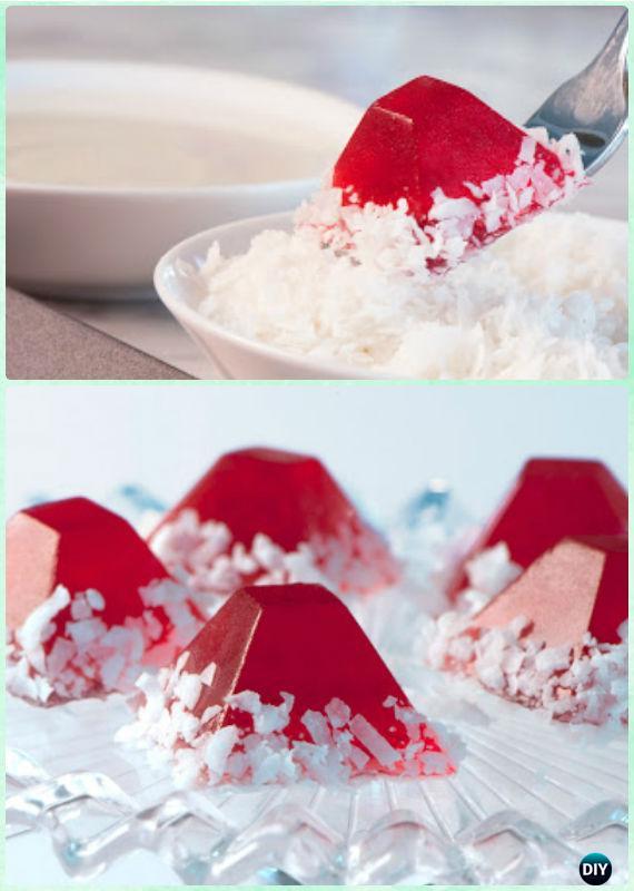 DIY Santa Hat Jelly Shots Recipe -DIY Holiday Jello Shot Recipes for Christmas
