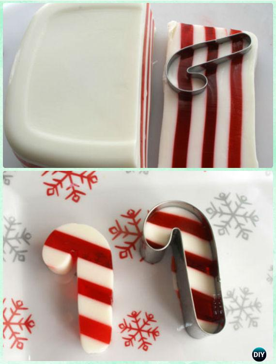 Candy Cane Jello Shot Recipe -DIY Holiday Jello Shot Recipes for Christmas