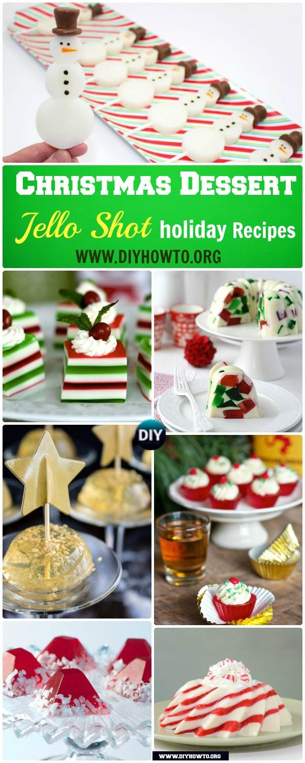 DIY Holiday Jello Shot Recipes for Christmas:  Some recipes are for kids, with others with alcohol inside for adults party treats.