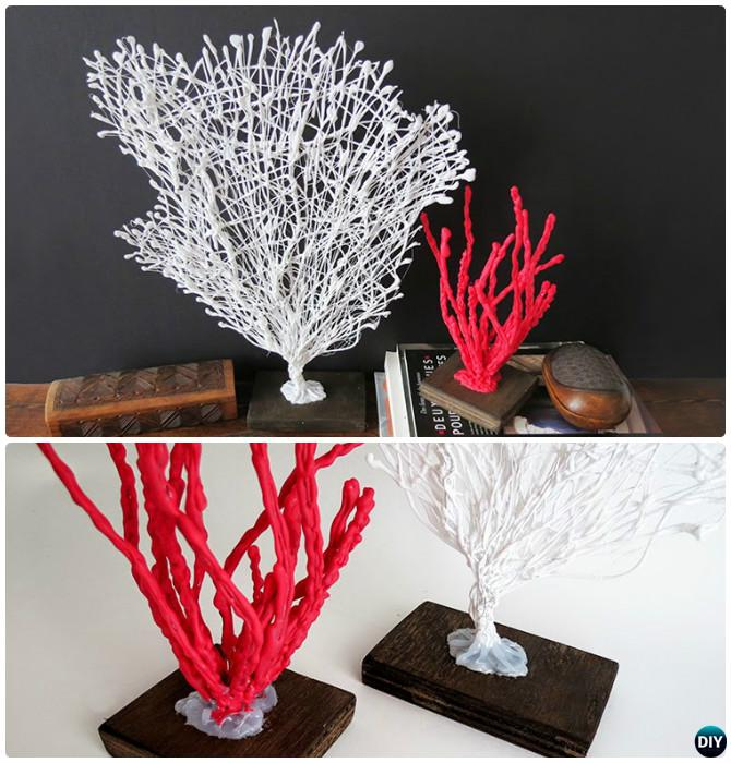 DIY Hot Glue Coral Decoration Instruction-DIY Hot Glue Gun Crafts Ideas