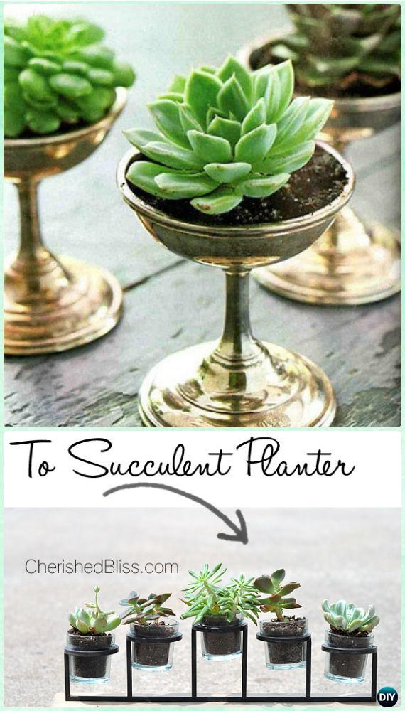 DIY Candleholder Succulent Garden Instruction- DIY Indoor Succulent Garden Ideas Projects