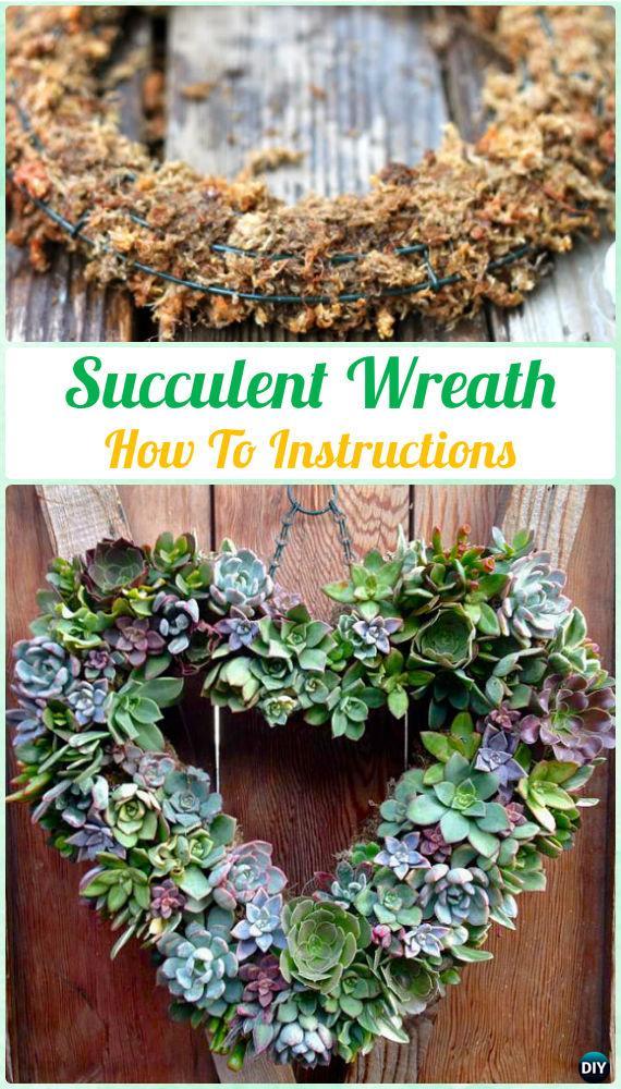 Indoor Succulent Garden Ideas Part - 29: DIY Hanging Succulent Wreath Instruction- DIY Indoor Succulent Garden Ideas  Projects
