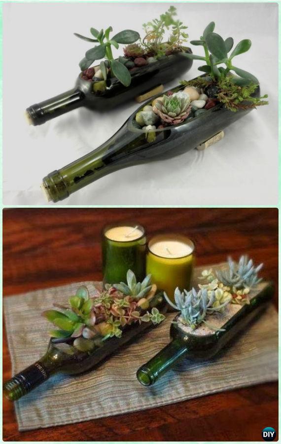 DIY Wine Glass Succulent Centerpiece Planter Instruction- DIY Indoor Succulent Garden Ideas Projects