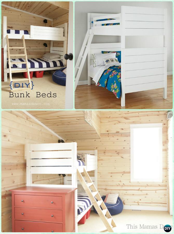 DIY Bunk Bed Frame Instructions-DIY Kids Bunk Bed Free Plans