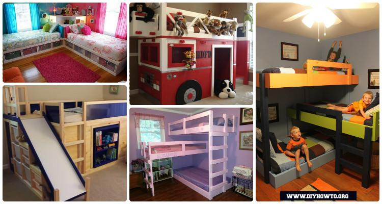 DIY Kids Bunk Bed Free Plans [Picture Instructions]