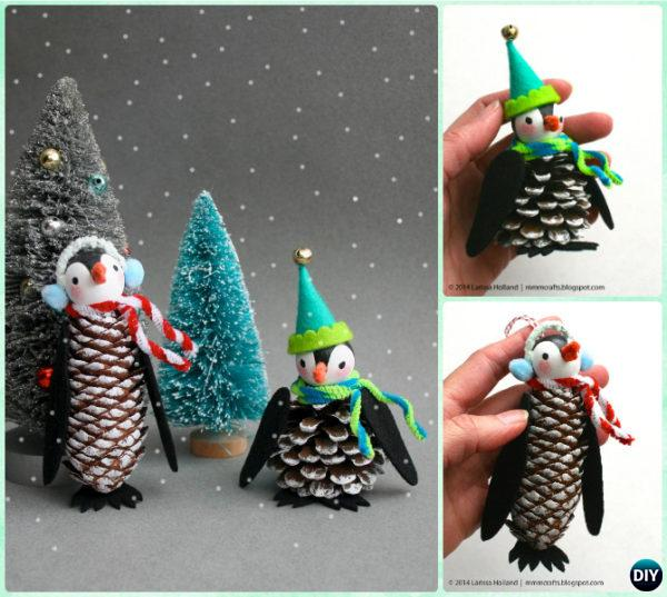Pine Cone Craft Ideas For Christmas Part - 15: DIY Pine Cone Penguin Ornament Instruction - Kids Pine Cone Craft Ideas  Projects