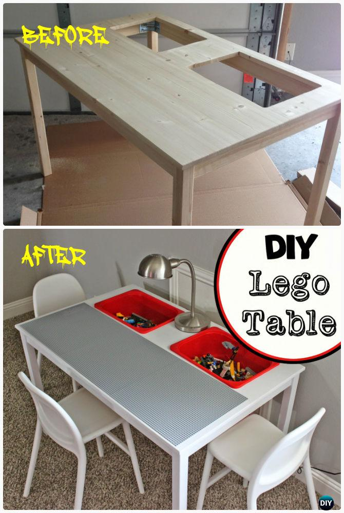 DIY Lego Table From IKEA Dining Table Instruction-DIY Lego Table Project Ideas for Kids