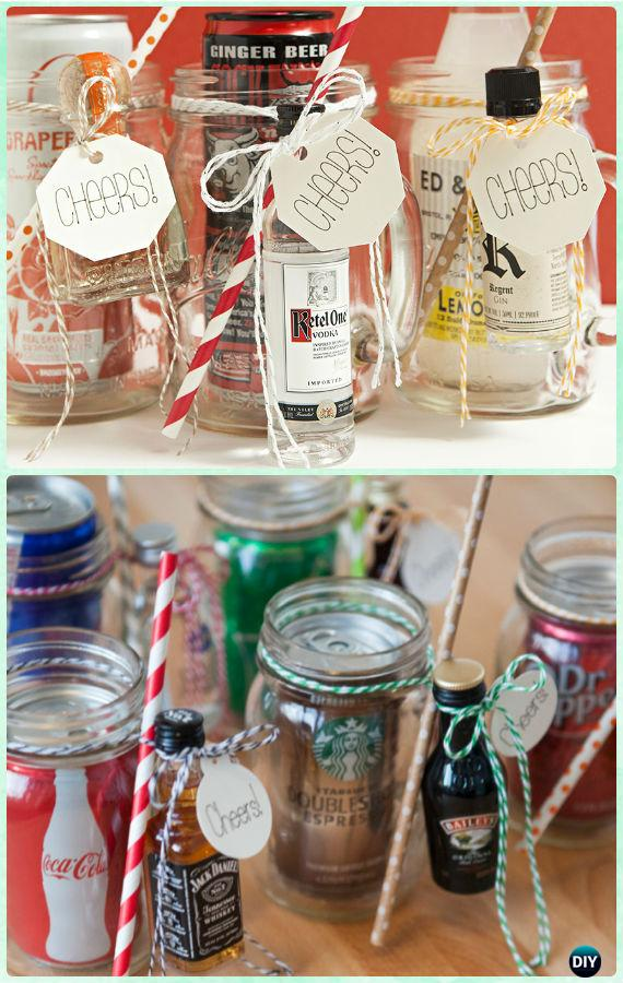 DIY Mason Jar Cocktail Gifts Instructions - DIY Mason Jar Christmas Gift Wrapping Ideas