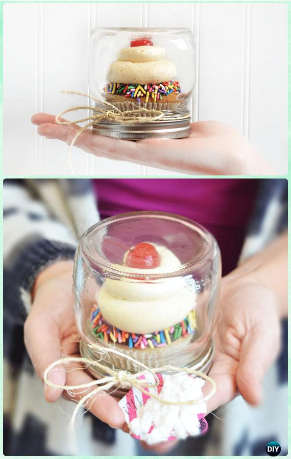 DIY Upside Down Mason Jar Cupcake Carrier Instructions - DIY Mason Jar Christmas Gift Wrapping Ideas