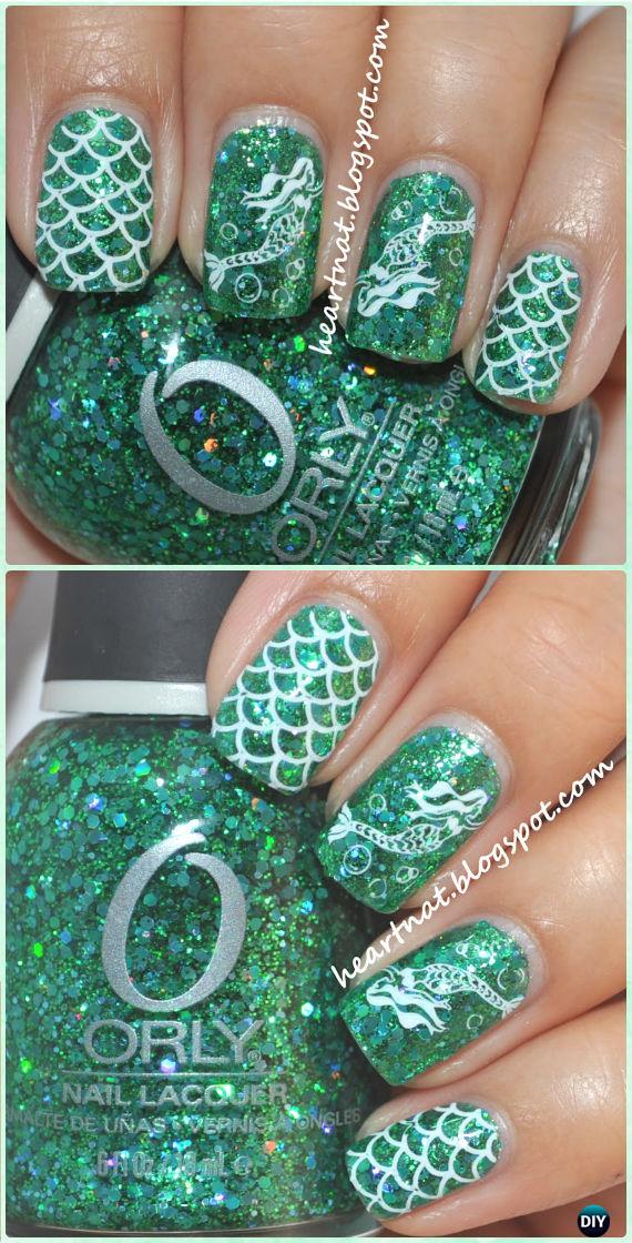 DIY Mermaid Nails Art Manicure Tutorial