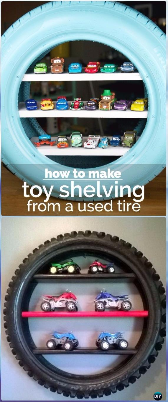 DIY Recycled Old Tire Furniture Ideas & Projects for Home