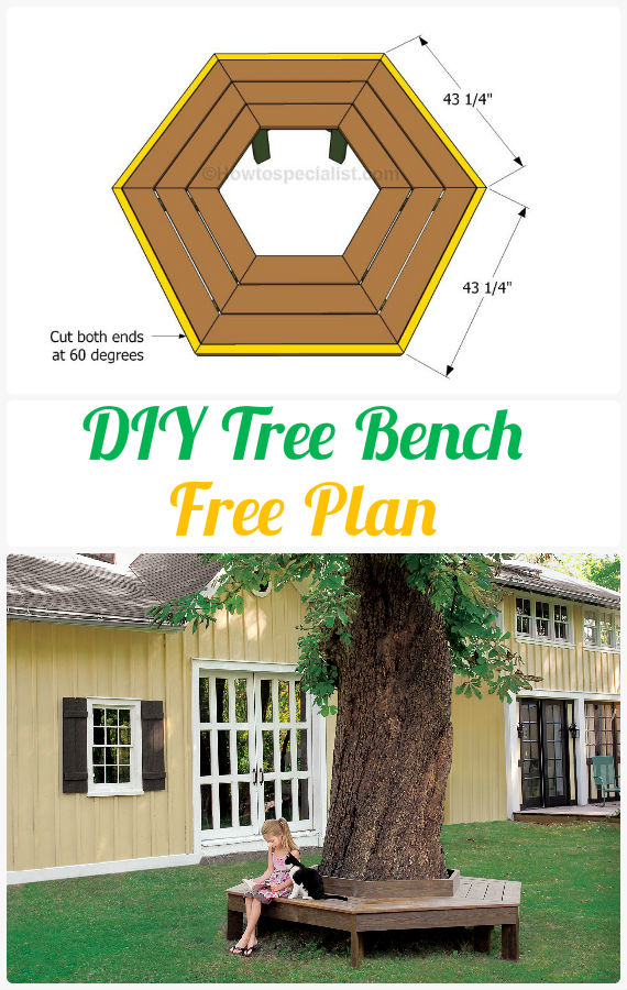 Great DIY Tree Bench Instructions Free Plan U2013 Outdoor Garden Bench Ideas
