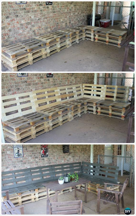 DIY Patio Pallet Furniture Set Instructions - DIY Outdoor Patio Furniture Ideas