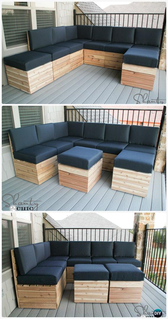 Attrayant DIY Modular Outdoor Seating Free Plan Instructions   DIY Outdoor Patio  Furniture Ideas