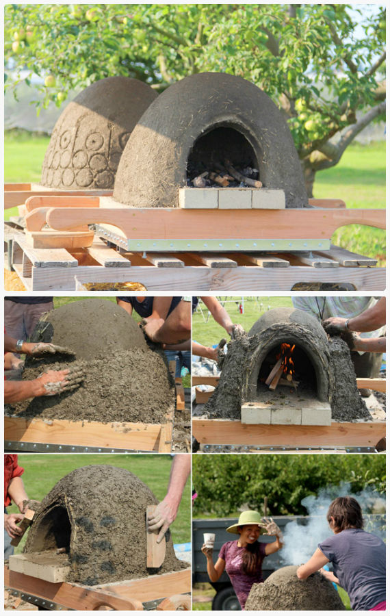 DIY Wood Fired Earth Oven Instructions - DIY Outdoor Pizza Oven Ideas Projects