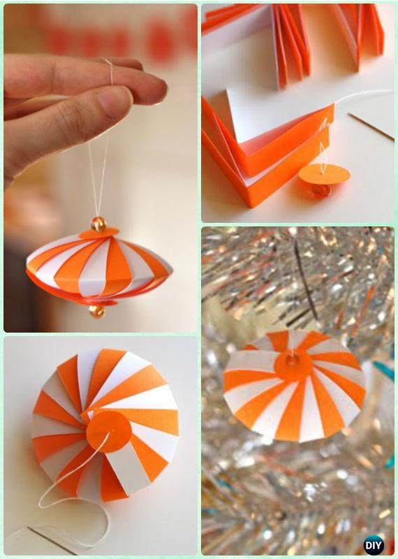 Easy homemade paper christmas ornaments