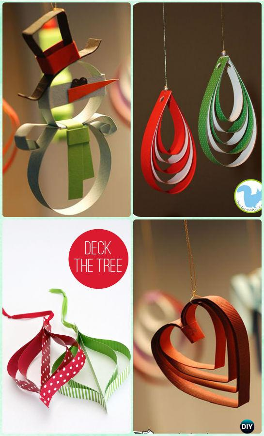 DIY Easy Stapled Paper Ornament Instruction  DIY Paper Christmas Tree Ornament  Craft Ideas