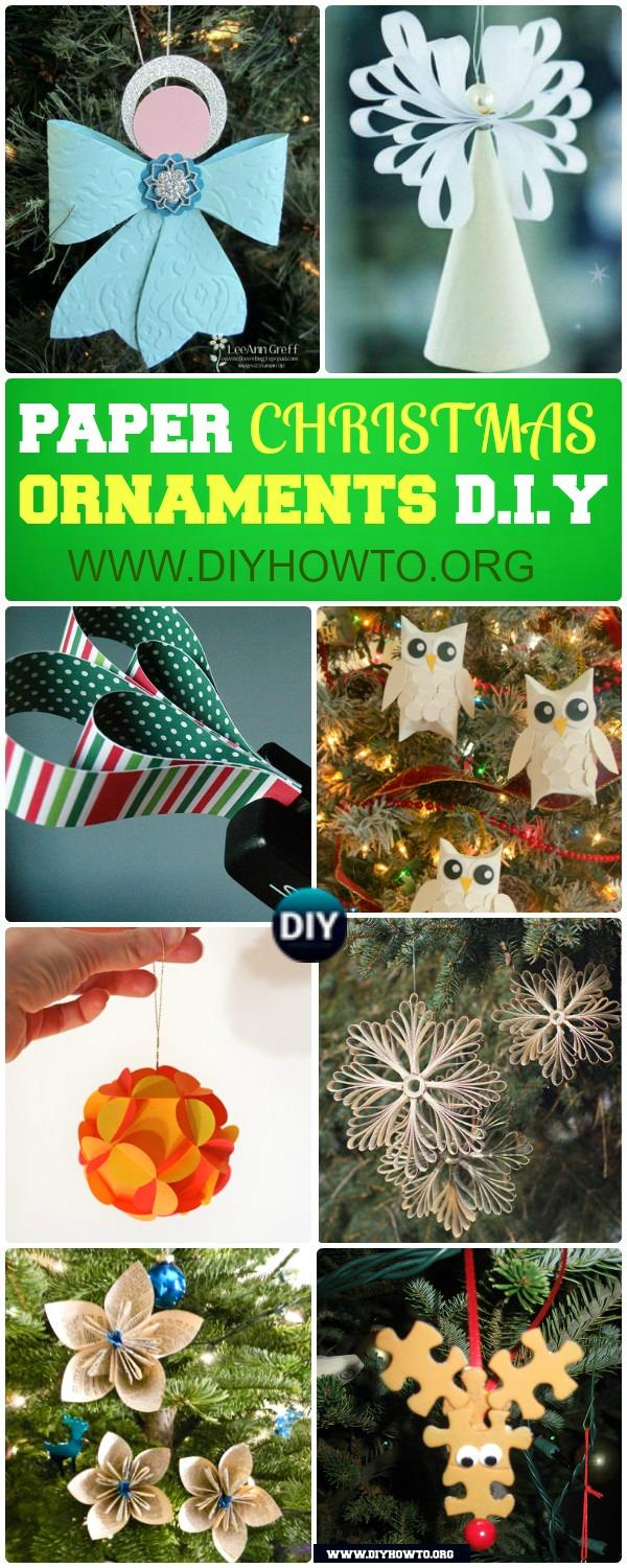 DIY Paper Christmas Tree Ornaments: Paper Snowflake, Paper Angel, Paper Flower and MORE