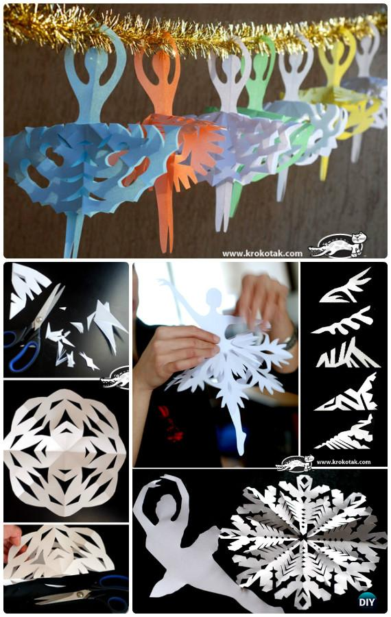Diy snowflake craft ideas projects picture instructions for Easy paper christmas decorations to make at home