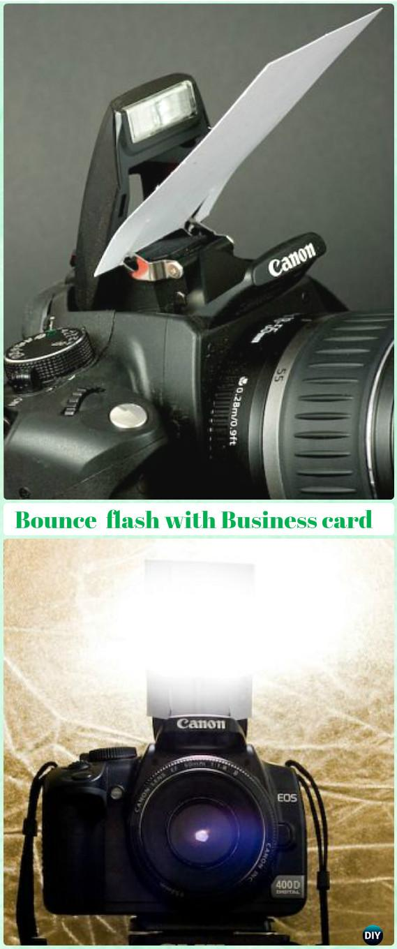 DIY Small Camera Internal Flash Bouncer Tutorial - DIY Photography Tips Camera Tricks