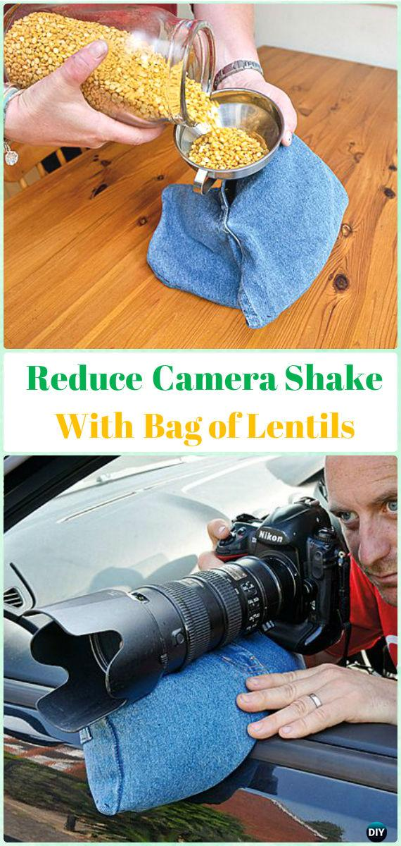 Reduce Camera Shake with Bag of Lentils DIY Tutorial - DIY Photography Tips Camera Tricks