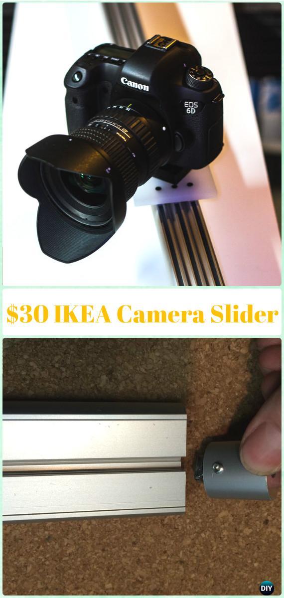 DIY $30 IKEA Camera Slider Tutorial - DIY Photography Tips Camera Tricks